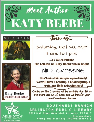 NILE CROSSING book launch flyer